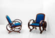 A PAIR OF OCCASIONAL CHAIRS - 24-Hour Online Auction: Art Deco