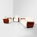 A THREE PIECE SALON SUITE -    - 24-Hour Online Auction: Art Deco