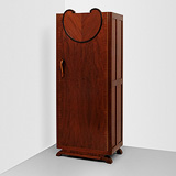 A SINGLE DOOR WARDROBE -    - 24-Hour Online Auction: Art Deco