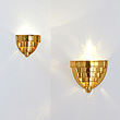 TWO STEPPED WALL SCONCES - 24-Hour Online Auction: Art Deco