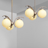 A PAIR OF THREE-LIGHT CHANDELIERS -    - 24-Hour Online Auction: Art Deco