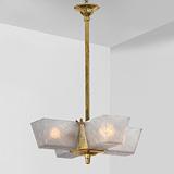 A FOUR-LIGHT CHANDELIER -    - 24-Hour Online Auction: Art Deco