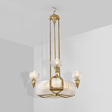 A FOUR-LIGHT CHANDELIER -    - 24-Hour Online Auction: Art Deco