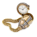 UNIVERSAL GENEVE: AN IMPORTANT DIAMOND AND GOLD CUSTOM-MADE BRACELET WATCH, REF. 17347 -    - 24-Hour Online Auction: Art Deco