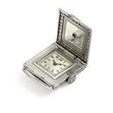 HAMILTON & Co.: A LAPIS LAZULI AND DIAMOND COCKTAIL WATCH -    - 24-Hour Online Auction: Art Deco