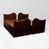 A PAIR OF TWIN BEDS -    - 24-Hour Online Auction: Art Deco