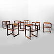 A SET OF EIGHT CHAIRS - 24-Hour Online Auction: Art Deco