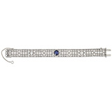 A SAPPHIRE AND DIAMOND BRACELET, GROGAN & CO. -    - 24-Hour Online Auction: Art Deco
