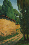 Untitled (Zebegény Landscape) - Amrita  Sher-Gil - Autumn Art Auction