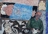 Under the Cover of a Blue Sheet - Arpita  Singh - Autumn Art Auction