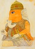 6 Tusked Ganesh - Badri  Narayan - Autumn Art Auction