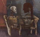 The Masks - Ganesh  Pyne - Autumn Art Auction