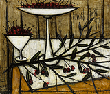 Cerises dans un compotier (Cherries in a Fruitbowl) - Bernard  Buffet - Impressionist and Modern Art Auction