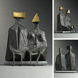 Maquette II Two Sitting Figures - Lynn  Chadwick - Impressionist and Modern Art Auction