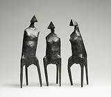 Three Standing Figures - Lynn  Chadwick - Impressionist and Modern Art Auction