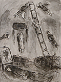 L'Echelle au ciel (Stairway to Heaven) - Marc  Chagall - Impressionist and Modern Art Auction