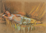 Femme nue allongée (Nude Woman Reclining) - Delphin  Enjolras - Impressionist and Modern Art Auction