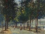 Champs Élysées, Paris - Edward  Seago - Impressionist and Modern Art Auction