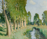 Les Bords du Loing (The Riverbanks of the Loing) - Pierre-Eugene  Montezin - Impressionist and Modern Art Auction