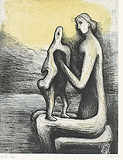 Mother and Child IV - Henry  Moore - Impressionist and Modern Art Auction