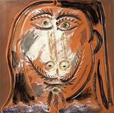 Visage d'homme (Man's Face) - Pablo  Picasso - Impressionist and Modern Art Auction