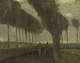L'Allee aux deux promeneurs (Lane with Two Figures) - Vincent van Gogh - Impressionist and Modern Art Auction