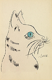 Pale Purple Sam in profile with Turquoise Eyes - Andy  Warhol - Impressionist and Modern Art Auction