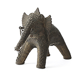An 'Elephant' Votive Offering -    - 24-Hour Auction: Indian Folk and Tribal Art and Objects