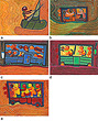 A Set of Five Paintings by Shanti Bai - 24-Hour Auction: Indian Folk and Tribal Art and Objects