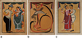 A Set of Kalighat Paintings -    - 24-Hour Auction: Indian Folk and Tribal Art and Objects