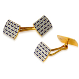 A PAIR OF ART-DECO ENAMEL AND GOLD CUFFLINKS -    - The Gentleman's Sale