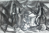 Jugs, Bottles and Fruits - I - K M Adimoolam - 24-Hour Absolute Auction