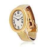 CARTIER: LADIES 'BAIGNOIRE' 18 K YELLOW GOLD WRISTWATCH, REF. 8057925C 1195 -    - Auction of Fine Jewels & Watches