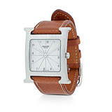 HERMES: LADIES ' H-HOUR' STEEL WRISTWATCH, REF. 1252193 -    - Auction of Fine Jewels & Watches