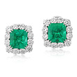 A MAGNIFICENT PAIR OF EMERALD AND DIAMOND EAR CLIPS - Auction of Fine Jewels & Watches