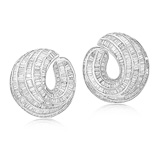 A PAIR OF DIAMOND EAR CLIPS -    - Auction of Fine Jewels & Watches