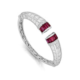 A RUBY AND DIAMOND BANGLE -    - Auction of Fine Jewels & Watches