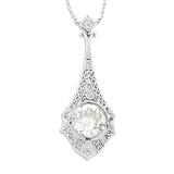 A VINTAGE DIAMOND PENDANT -    - Auction of Fine Jewels & Watches