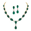 A SUITE OF EMERALD AND DIAMOND JEWELRY - Auction of Fine Jewels & Watches