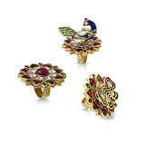 AN AMUSING 'PEACOCK OR BUTTERFLY' RING -    - Auction of Fine Jewels & Watches