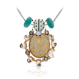 A GEMSET 'BEETLE' PENDANT, BY POONAM SONI -    - Auction of Fine Jewels & Watches
