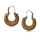 A PAIR OF GOLD 'OGANIA' EAR PENDANTS -    - Auction of Fine Jewels & Watches