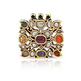 A PERIOD GEMSET 'NAVRATAN' PENDANT -    - Auction of Fine Jewels & Watches