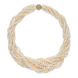 A FIFTEEN-STRAND NATURAL PEARL NECKLACE -    - Auction of Fine Jewels & Watches