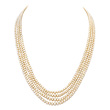 A FOUR-STRAND NATURAL PEARL NECKLACE - Auction of Fine Jewels & Watches