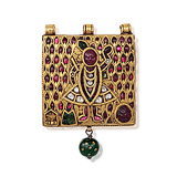 A PERIOD GOLD AND GEM SET 'SHRINATHJI' PENDANT -    - Auction of Fine Jewels & Watches