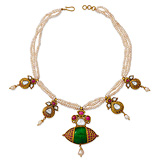 A PERIOD PEARL AND GEMSET NECKLACE -    - Auction of Fine Jewels & Watches