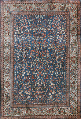 24-Hour Auction: Carpets And Rugs -Mar 14-15 2012 -Lot 16 -PERSIAN DABEER KASHAN GARDEN OF