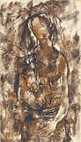 Autumn Girl - Krishen  Khanna - Spring Art Auction