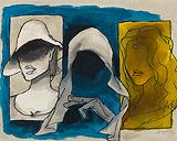 Madhuri-Mother-Madonna - M F Husain - Summer Art Auction 2012